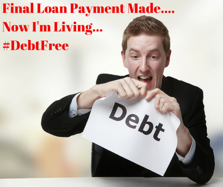 Final Loan Payment Made… College Debt #Crushed!!